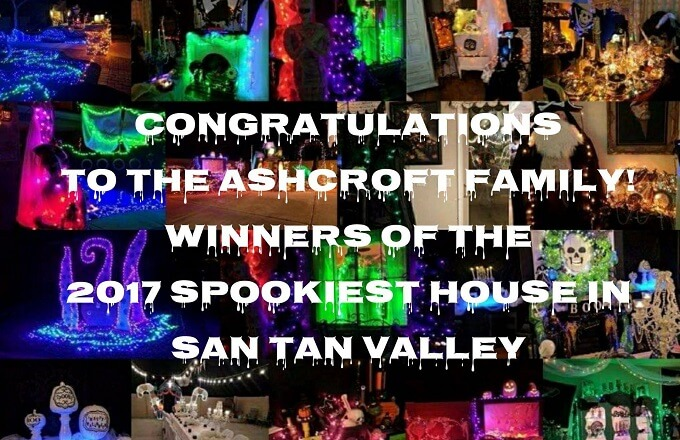 Congratulations to the Ashcroft Family - 2017 Spookiest House in San Tan Valley (2)